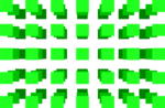 Free Stock Photo: Illustration of a 3d green square pattern.