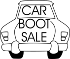 Free Stock Photo: Illustration of a car with sales text.