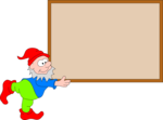 Free Stock Photo: Illustration of a Christmas elf carrying a large blank box.