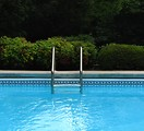 Free Stock Photo: A ladder in a swimming pool.