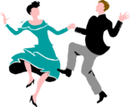 Free Stock Photo: Illustration of a couple dancing.