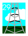 Free Stock Photo: Illustration of a stamp with a tower design.
