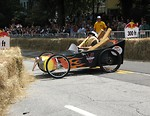 Free Stock Photo: A crashed race car at the 2009 Red Bull Soap Box Derby in Atlanta, Georgia.