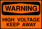 Free Stock Photo: Illustration of a high voltage warning sign.