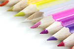 Free Stock Photo: Colored pencils isolated on a white background.