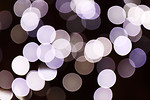 Free Stock Photo: Blurred white lights.