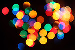 Free Stock Photo: Blurred colored lights.