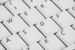 Free Stock Photo: Close-up of a white keyboard.
