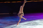 Free Stock Photo: Figure skater Sasha Cohen in an endless spiral.
