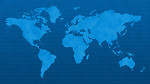 Free Stock Photo: Blue world map with binary code.