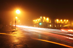 Free Stock Photo: Traffic in a foggy night.