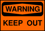 Free Stock Photo: Illustration of a warning keep out sign.