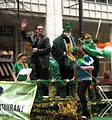 Free Stock Photo: A Bono lookalike on a float in the 2010 Atlanta Saint Patrick