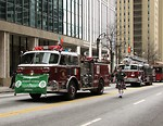 Free Stock Photo: Firetrucks in the 2010 Atlanta Saint Patrick