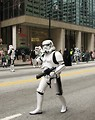 Free Stock Photo: A Star Wars stormtrooper at the 2010 Atlanta Saint Patrick's Day Parade.