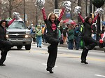 Free Stock Photo: Beautiful cheerleaders in the 2010 Atlanta Saint Patrick