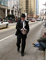 Free Stock Photo: A man passing out candy at the 2010 Atlanta Saint Patrick