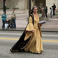 Free Stock Photo: A beautiful woman in a medieval dress in the 2010 Atlanta Saint Patrick