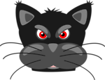 Free Stock Photo: Illustration of an angry black cat
