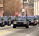Free Stock Photo: Police cars in the 2010 Saint Patricks Day Parade in Atlanta, Georgia