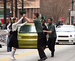 Free Stock Photo: Swing dancers in the 2010 Saint Patricks Day Parade in Atlanta, Georgia