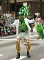 Free Stock Photo: A man in a funny costume in the 2010 Saint Patricks Day Parade in Atlanta, Georgia