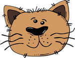 Free Stock Photo: Illustration of a cartoon cat face