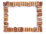 Free Stock Photo: A blank picture frame made of corks.
