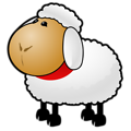Free Stock Photo: Illustration of a cartoon sheep.