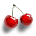 Free Stock Photo: Illustration of cherries on a transparent background