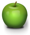 Free Stock Photo: Illustration of a green apple.