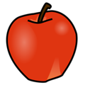 Free Stock Photo: Illustration of a red apple.