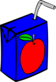 Free Stock Photo: Illustration of a small apple juice box.