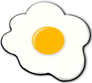Free Stock Photo: Illustration of a fried egg sunny side up