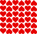 Free Stock Photo: Illustration of red heart tiles.