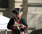 Free Stock Photo: A speaker in a Colonial costume at the 2010 Atlanta tax day tea party in Atlanta, Georgia
