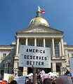 Free Stock Photo: Protestors with signs at the 2010 Atlanta tax day tea party in Atlanta, Georgia