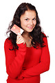 Free Stock Photo: A beautiful woman holding a credit card