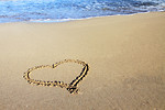 Free Stock Photo: A heart drawn in the sand