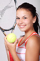 Free Stock Photo: A beautiful girl with tennis gear