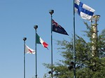 Free Stock Photo: Several flags in Olympic Park in Atlanta, Georgia