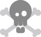 Free Stock Photo: Illustration of a skull and crossbones