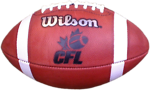 Free Stock Photo: A Canadian Football League football isolated on a white background