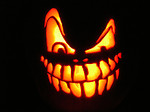 Free Stock Photo: A scary Halloween jack-o-lantern.