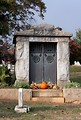 Free Stock Photo: A mausoleum during autumn at historic Oakland Cemetery in Atlanta, Georgia.