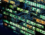 Free Stock Photo: Office building windows at night