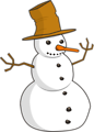 Free Stock Photo: Illustration of a snowman
