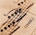 Free Stock Photo: A closeup of sheet music