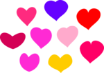 Free Stock Photo: Illustration of colorful hearts