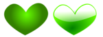 Free Stock Photo: Illustration of green hearts